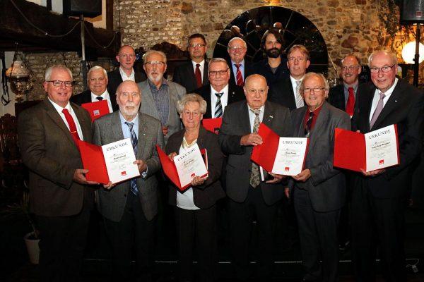 Jubilare der Ortsvereine H'rath-Mitte und Kohlscheid, Foto: Wolfgang Sevenich