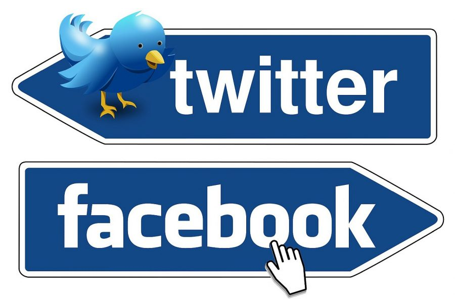 Logos Facebook und Twitter
