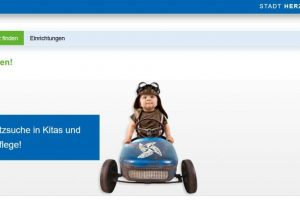 Bildschirmfoto KiTa-Portal der Stadt Herzogenrath