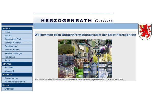 Bildschirmfoto Ratsinformationssystem