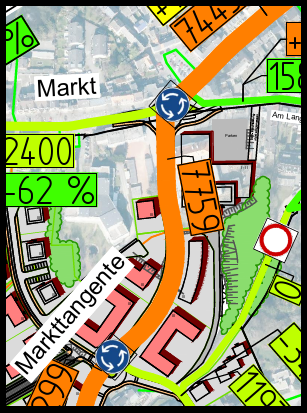 Grafik Markttangente Kohlscheid