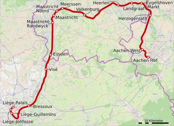 RE18: Start der Direktverbindung Aachen–Maastricht im Dezember