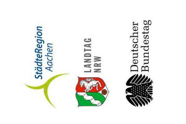 Grafik Abgeordnete im Städteregionsrat, im Landtag und im Bundestag